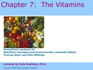 Chapter 7:  The Vitamins