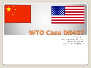 WTO Case DS437