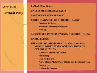 CHAPTER 23 Cerebral Palsy