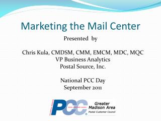Marketing the Mail Center