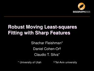 Robust Moving Least-squares Fitting with Sharp Features