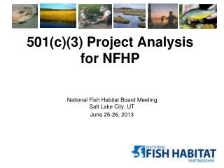 501(c)(3) Project Analysis for NFHP