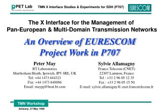 The X Interface for the Management of  Pan-European & Multi-Domain Transmission Networks