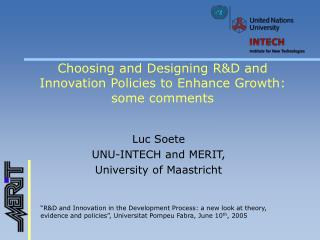 Choosing and Designing R&D and Innovation Policies to Enhance Growth: some comments