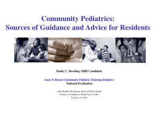 Community Pediatrics: Sources of Guidance and Advice for Residents