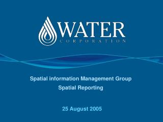Spatial information Management Group  Spatial Reporting