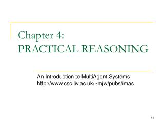 Chapter 4:  PRACTICAL REASONING