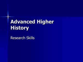 Advanced Higher History