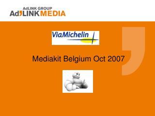 Mediakit Belgium Oct 2007