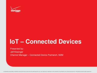 IoT  – Connected Devices