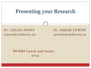 Presenting your Research