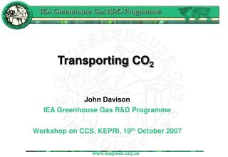 Transporting CO 2