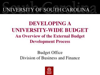 Budget Office Division of Business and Finance