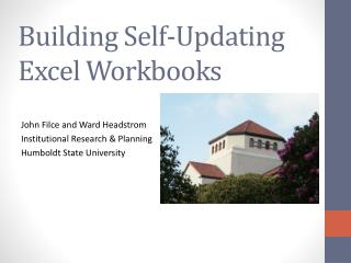 Building Self-Updating Excel Workbooks