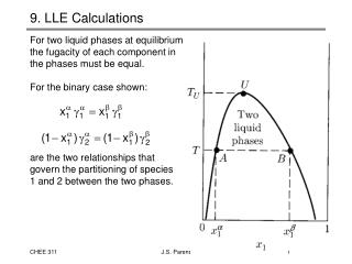 9. LLE Calculations