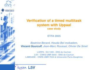 Verification of a timed multitask  system with Uppaal case study