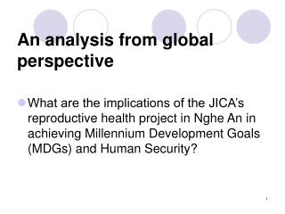 An analysis from global perspective