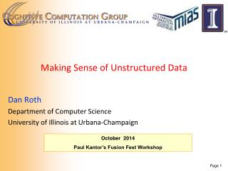 Making Sense of Unstructured Data