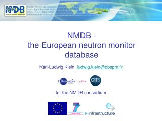NMDB -  the European neutron monitor database