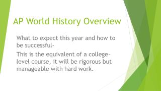 AP World History Overview