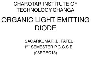 CHAROTAR INSTITUTE OF TECHNOLOGY,CHANGA