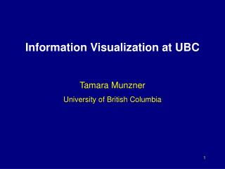 Information Visualization at UBC