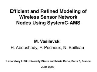 Efficient and Refined Modeling of Wireless Sensor Network Nodes Using SystemC-AMS