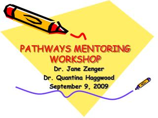 PATHWAYS MENTORING WORKSHOP