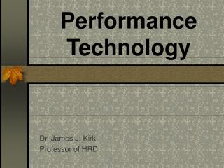 Performance Technology