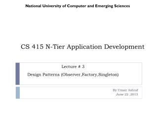 CS 415 N-Tier Application Development