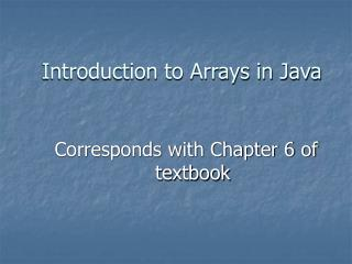 Introduction to Arrays in Java