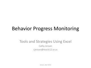 Behavior Progress Monitoring