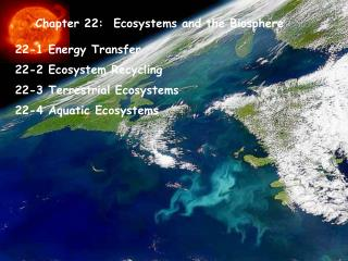 Chapter 22: Ecosystems and the Biosphere