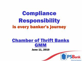 Compliance Responsibility  is every banker's journey