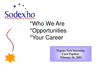 Who We Are Opportunities Your Career