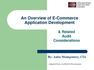 An Overview of E-Commerce   Application Development