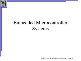 Embedded Microcontroller Systems
