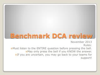 Benchmark DCA review