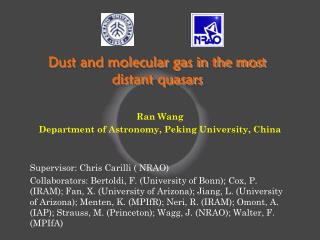 Dust and molecular gas in the most distant quasars