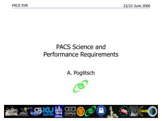 PACS Science and Performance Requirements