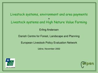 Livestock systems, environment and area payments
