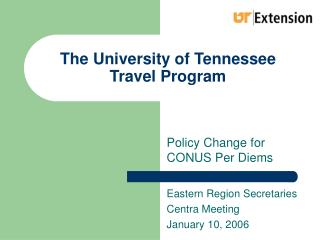 The University of Tennessee Travel Program