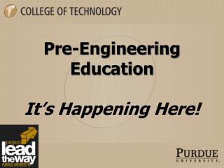 Pre-Engineering Education