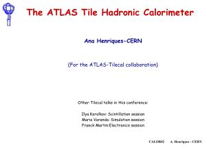 The ATLAS Tile Hadronic Calorimeter
