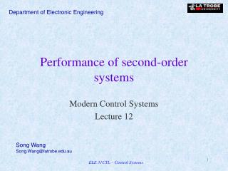 Performance of second-order systems