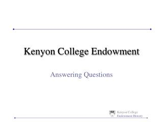 Kenyon College Endowment