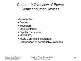 Chapter 2 Overview of Power Semiconductor Devices