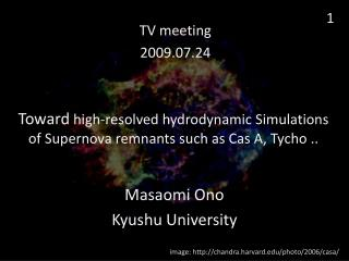 Toward  high-resolved hydrodynamic Simulations of Supernova remnants such as Cas A, Tycho ..