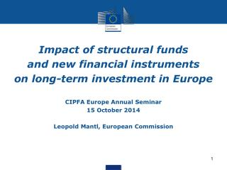 Impact  of structural funds  and  new financial instruments  on  long-term investment in Europe