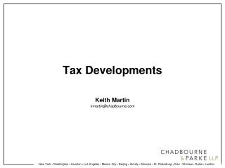 Tax Developments